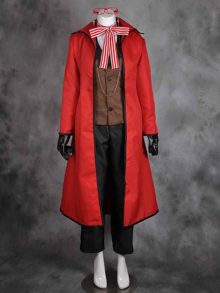 Inspired by Black Butler Grell Sutcliff Cosplay Costume