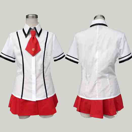 Inspired by Baka and Test School Uniform Costume for Girls