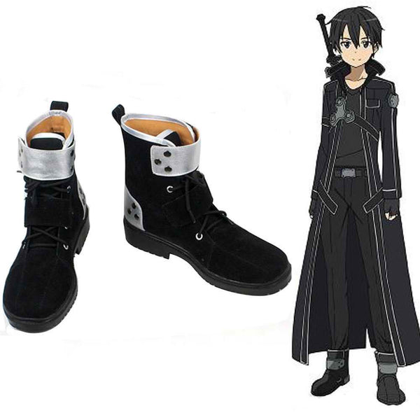 Inspired by Sword Art Online Kirito Cosplay Shoes
