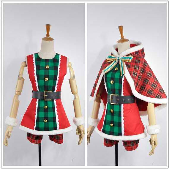 Inspired by Love Live! Hoshizora Rin Christmas Dress Costume