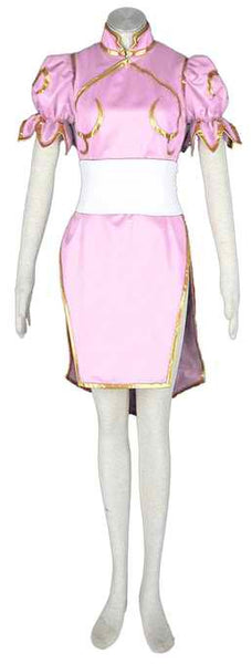 Inspired by Street Fighter Chun-li Pink Cosplay Costume