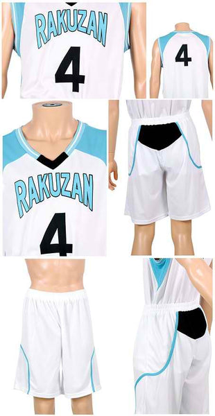 Inspired by Kuroko's Basketball Akashi Rakuzan Basketball Jersey No.4 Costume
