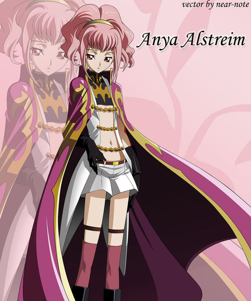 Inspired by Code Geass Anya Alstreim Cosplay Wig High Quality