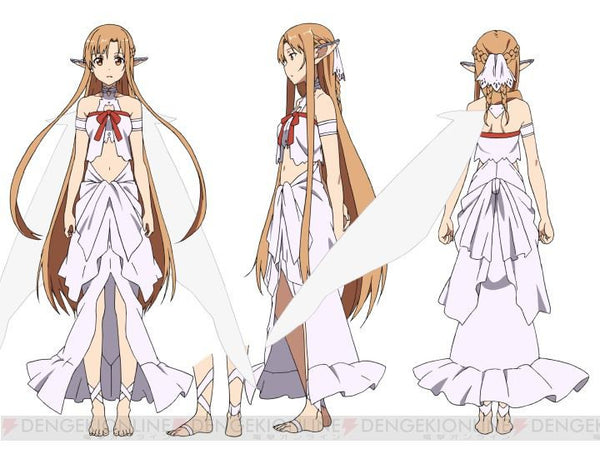 Inspired by Sword Art Online Asuna Fairy Queen Titania Cosplay Costume