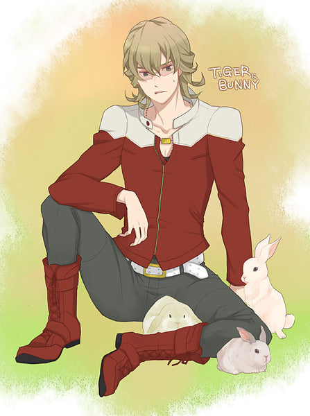 Inspired by Tiger & Bunny Barnaby Brooks Jr. Super Rookie Bunny Cosplay Costume