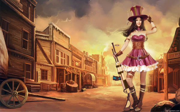 Inspired by Caitlyn from League of Legends Cosplay Costume