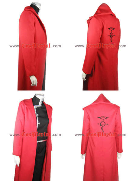 Inspired by Edward Elric Full Metal Alchemist Cosplay Costume: High Quality