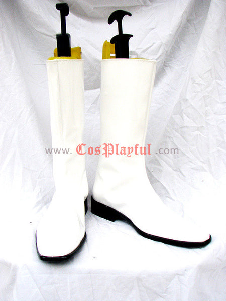 Inspired by Mobile Suit Gundam Cosplay Boots White
