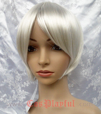 Inspired by Silver White Short Cosplay Wig