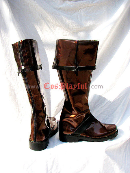 Inspired by D. Gray-man Lavi Cosplay Boots 3rd Edition Brown