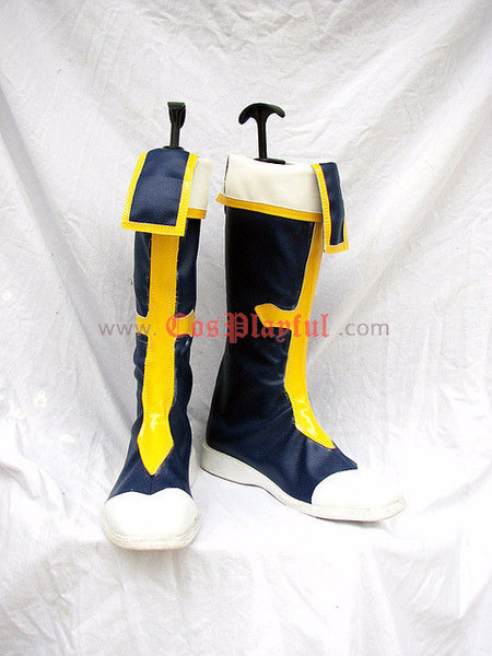 Commission BlazBlue Jin Kisaragi Cosplay Boots and Wig - Cosplayful