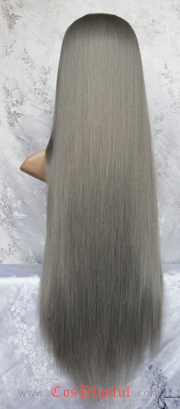 Inspired by High Quality Gray Long Straight Hair Cosplay Wig