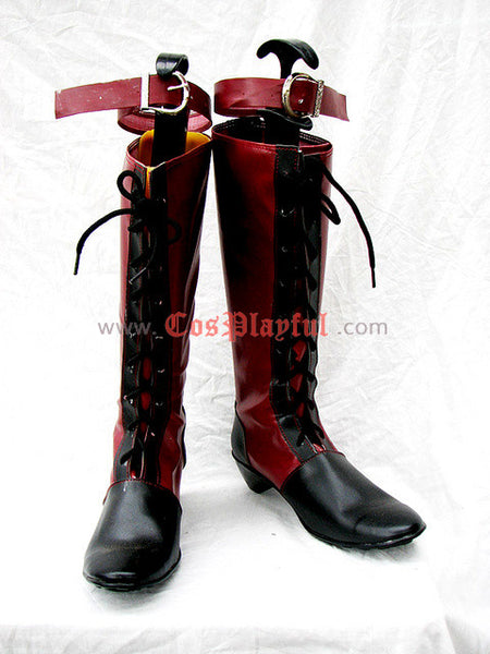 Inspired by Black Butler Ciel Cosplay Boots Cover Page Red Version