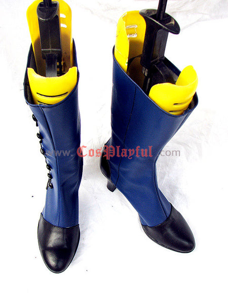 Inspired by Black Butler Ciel Cosplay Boots Cover Page Blue Version