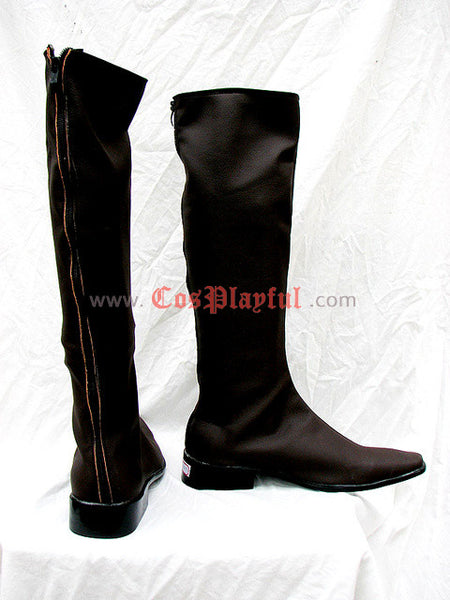 Inspired by Trinity Blood Cosplay Boots Dark Brown