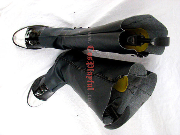 Inspired by Black Butler Ciel Cosplay Boots Black