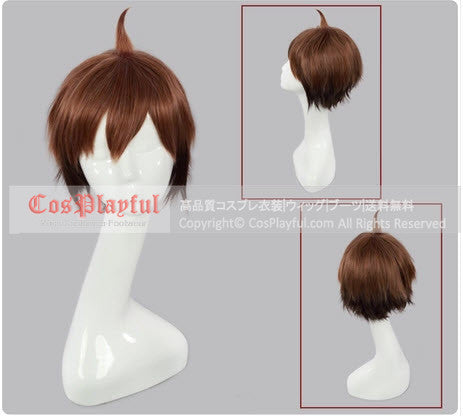 Inspired by Dangan Ronpa Makoto Naegi Cosplay Wig High Quality