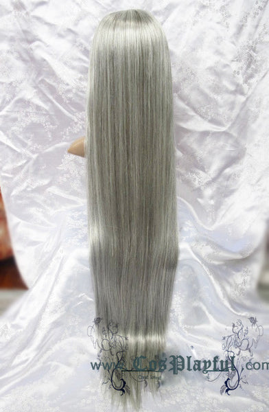 Inspired by Silver Gray Long Hair Cosplay Wig