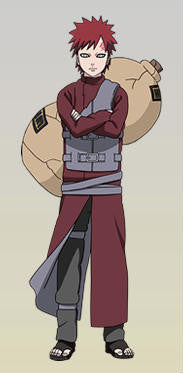 Inspired by Gaara - Red - Shippuden Cosplay