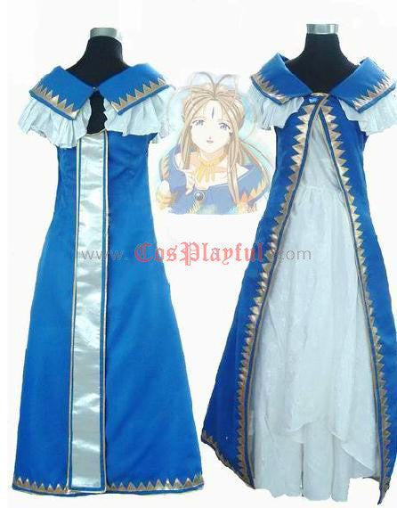 Inspired by Ah My Goddess Belldandy Cosplay Costume Dress - Cosplayful