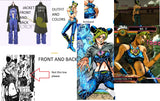 Inspired by Jojo's Bizarre Adventure Jolyne Kujo Cosplay Costume with Boots Value Bundle
