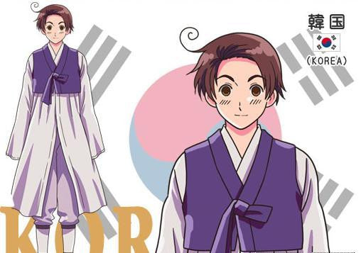Inspired by Hetalia Axis Powers Korea Im Yong Soo Cosplay Costume