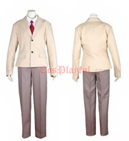Inspired by Death Note Light Cosplay Costume : Anime School Uniform