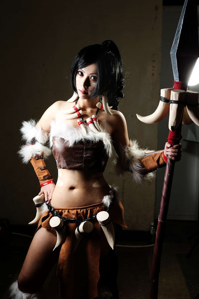 Inspired by Nidalee from League of Legends Cosplay Costume