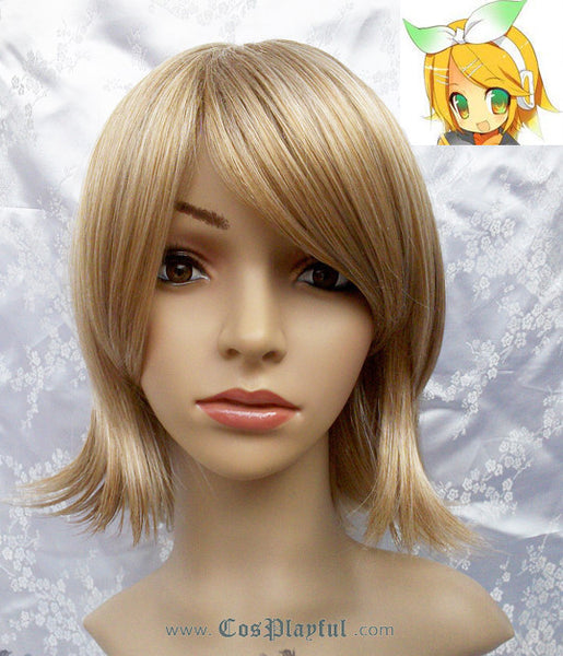 Inspired by VOCALOID2 Kagamine Rin Cosplay Wig