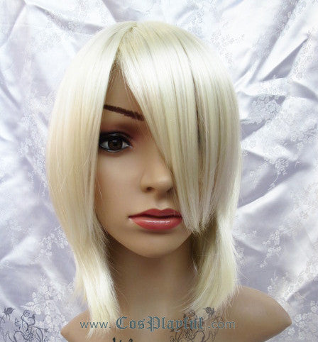 Inspired by Light Blond Short Hair Cosplay Wig