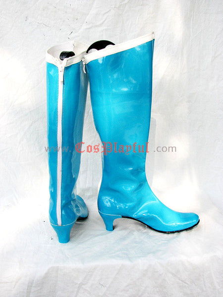 Inspired by Sailor Moon Ami / Amy Mizuno Sailor Mercury  Cosplay Boots Light Blue
