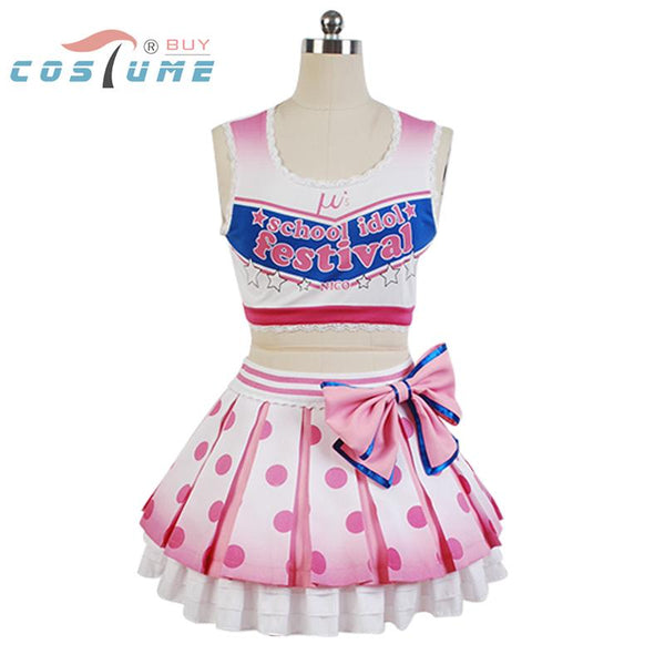 LoveLive! Love Live Yazawa Niko Cheerleaders Cosplay Costume Anime Halloween Costumes For Women
