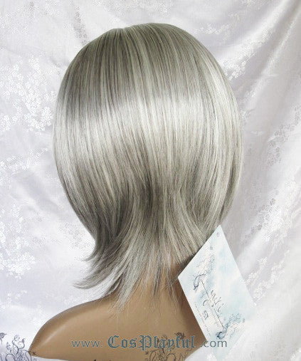 Inspired by Silver Gray Short Hair Cosplay Wig