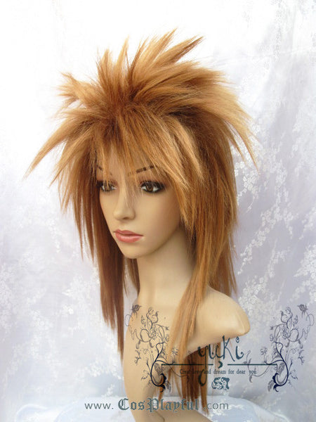 Inspired by Brown Spiky Long Hair Cosplay Wig