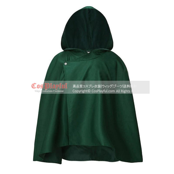 Inspired by Attack On Titan Shingeki No Kyoujin Cosplay Scouting Legion Green Cape