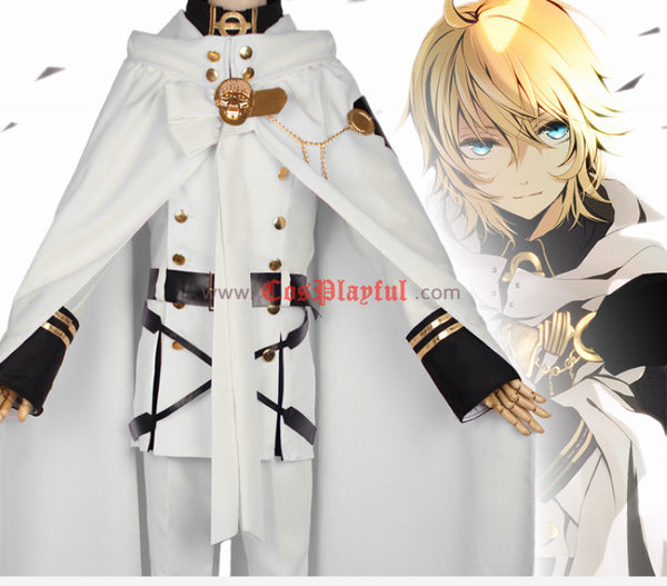 Inspired by Seraph of the End Mikaela Hyakuya Cosplay Costume
