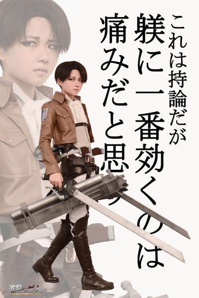 Inspired by Attack on Titan Levi Cosplay Costume