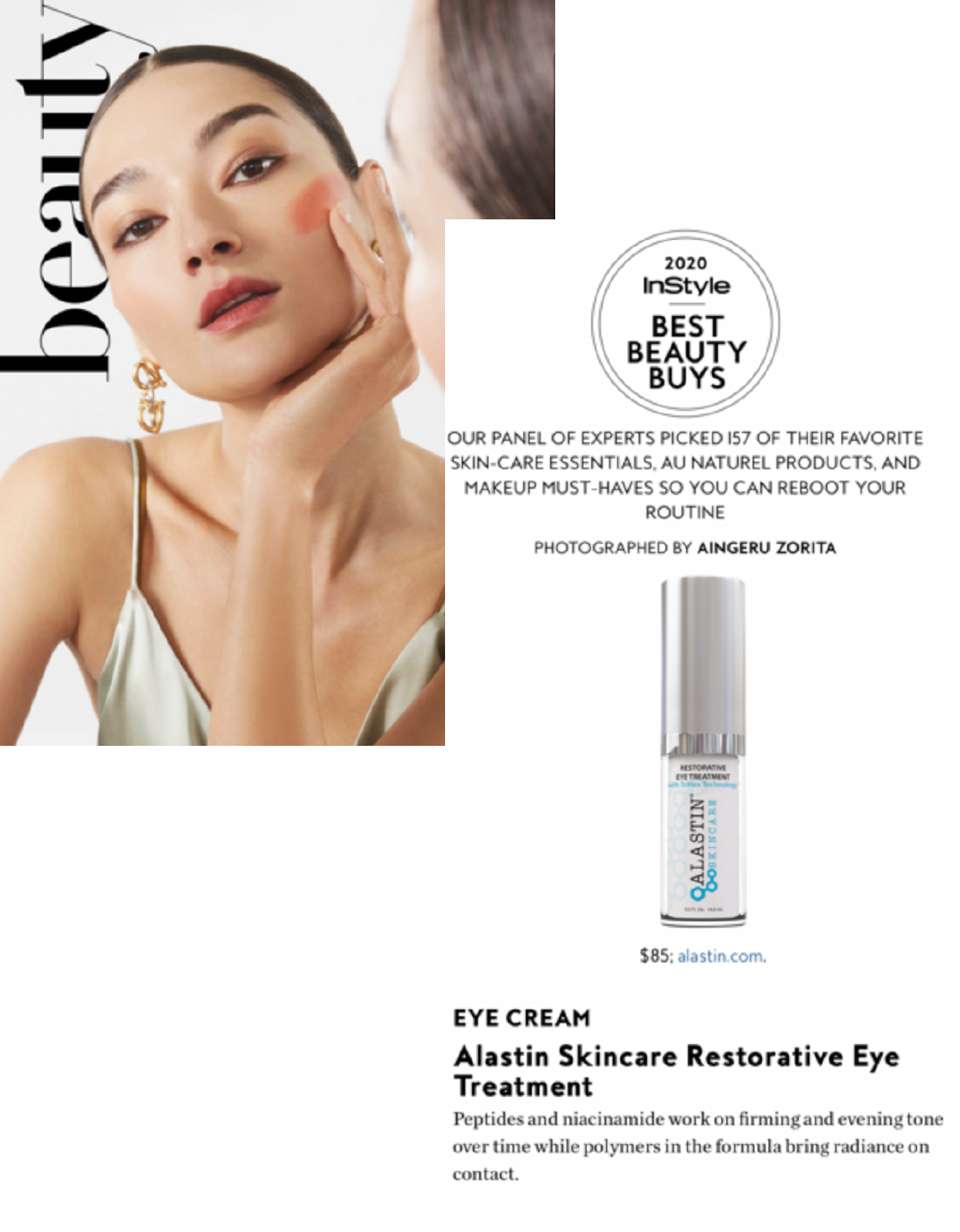 2020 Instyle Best Beauty Eye Award Winner For Best Anti Aging Eye