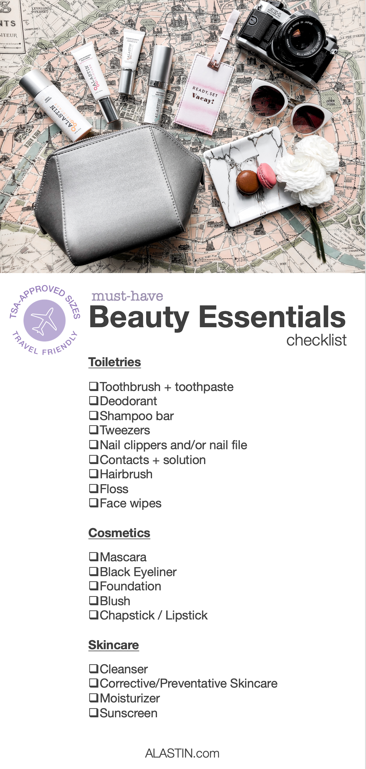 Beauty Travel Essentials Checklist | ALASTIN Skincare
