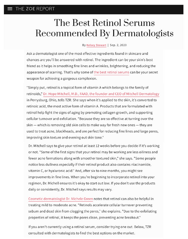 The Best Retinol Serums Recommended By Dermatologists
