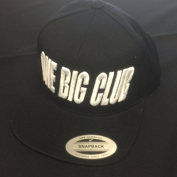 Hat OneBigClub Embroidered Black/White