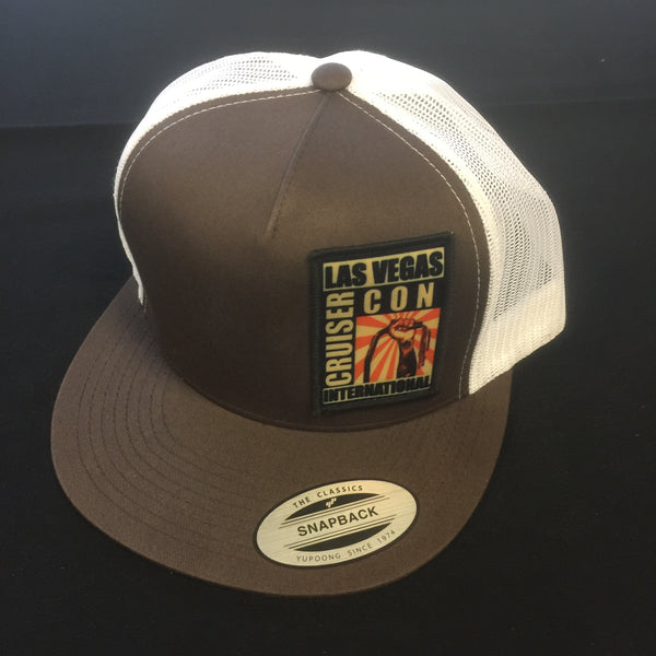 zzzHat CruiserCon Patch Trucker Brown/White