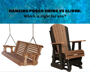 Hanging Porch Swing VS Glider: Which Is Right For You?