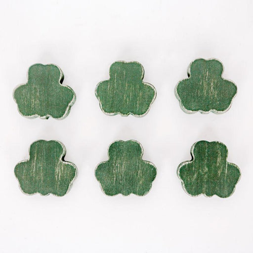 Adams & Co. Adams & Co. 2x1.75x.25 Wood Shapes S/6 (SHMRKS) Green Art 15389