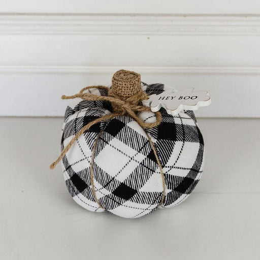 Adams & Co. Adams & Co. 5x4.5x5 Puffy Pumpkin (HEY BOO) Black/White Art 50244 810013489125