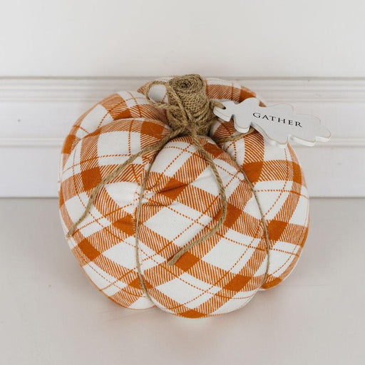 Adams & Co. Adams & Co. 7.25x7x7.25 Puffy Pumpkin (GTHR) Orange/White Art 50243