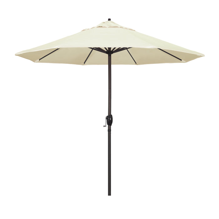 "California Umbrella California Umbrella Venture 9"" Bronze Market Umbrella in Canvas Fabric Canvas Olefin ATA908117-SA53 8.48E+11"