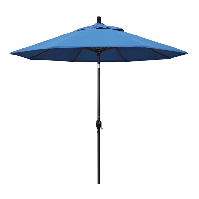 "California Umbrella California Umbrella Venture 9"" Bronze Market Umbrella in Capri Fabric Capri Olefin GSPT908117-SA26 8.48E+11"