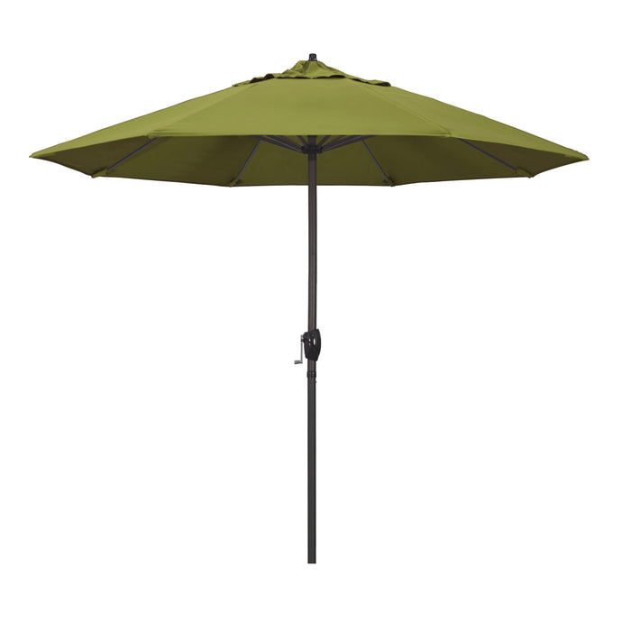 "California Umbrella California Umbrella Venture 9"" Bronze Market Umbrella in Ginkgo Fabric Ginkgo Olefin ATA908117-SA11 8.48E+11"