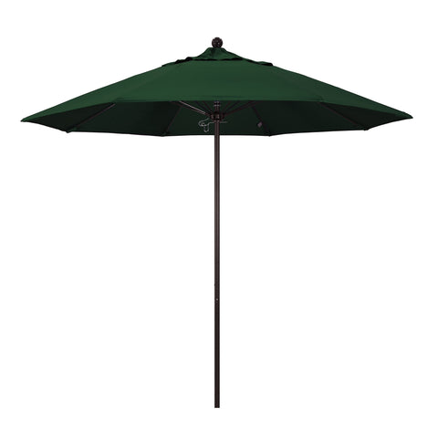 "California Umbrella California Umbrella Venture 9"" Bronze Market Umbrella in Hunter Green Fabric Hunter Green Olefin ALTO908117-SA46 8.48E+11"